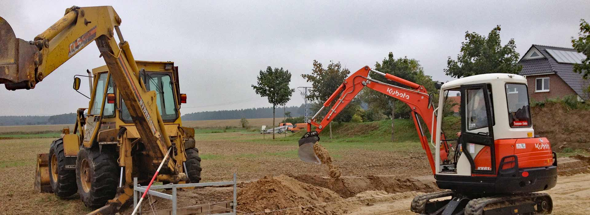 Dörheide-Bau Wittingen - Slider - Baggerarbeiten