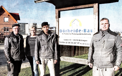 Dörheide-Bau Wittingen - Azubi Obi aus Afghanistan